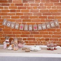 Just My Type Love Is Sweet Candy Buffet Bunting